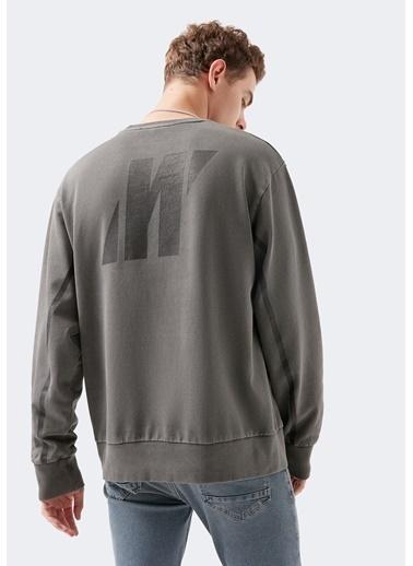 Mavi Logo Baskılı Black Pro  Sweatshirt Gri